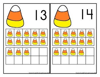 Candy Corn Counting Mats 1-20