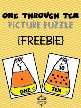 Candy Corn Counting Puzzle {FREEBIE}