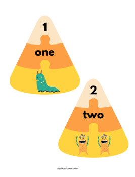 Candy Corn Counting Puzzles & Activities