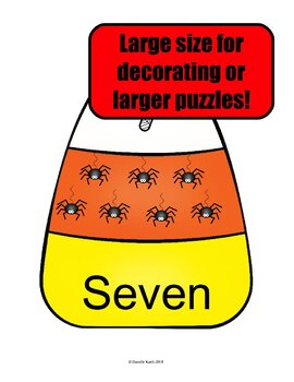 Candy Corn Counting Set with Puzzles, Posters, and Flash Cards 1-20