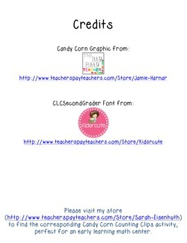 Candy Corn Counting Worksheet Single Digits FREEBIE