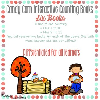 Candy Corn Counting and Addition Books: Interactive and Differentiated