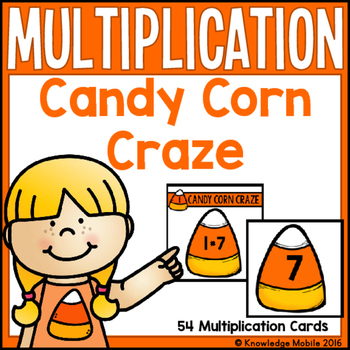 Candy Corn Craze - 54 Free Multiplication Task Cards