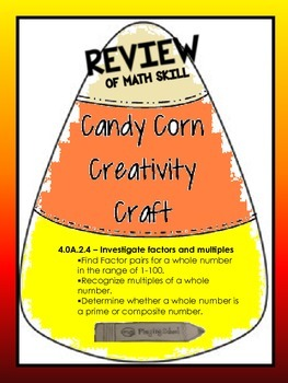 Candy Corn Creativity Craft for Factors & Multiples