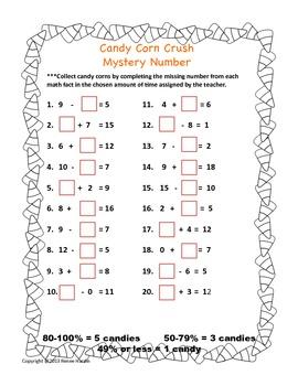 Math Game: Candy Corn Crush