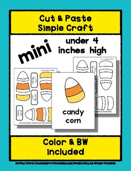 Candy Corn - Cut & Paste Craft - Mini Craftivity for Pre-K & Kindergarten