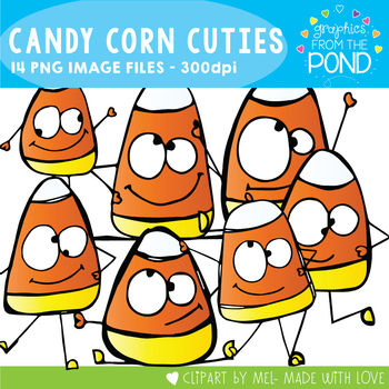 Candy Corn Cuties Halloween Clipart