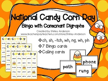 Candy Corn Day Bingo with Consonant Digraphs