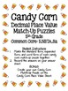 Candy Corn Decimal Place Value Match-Up Puzzles (5th Grade
