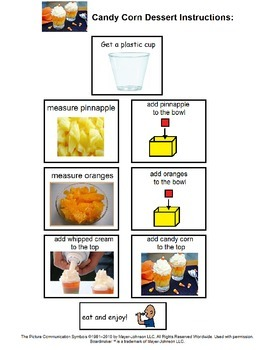 Candy Corn Dessert Instruction and Comprehension Worksheet Bundle