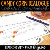 Candy Corn Halloween Dialogue Center Activity or Assessment
