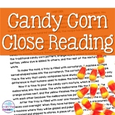 Candy Corn Close Reading Comprehension Passages and Questions