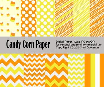 Candy Corn Digital paper set