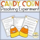 Candy Corn Dissolving Experiment Halloween STEM