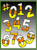 Candy Corn Doodle Numbers (& more) 0-9