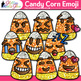 Candy Corn Emoji Clip Art: Halloween Emoticon Graphics {Glitter Meets Glue}