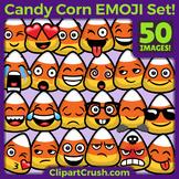 Candy Corn Emoji Clipart Faces / CandyCorn Halloween Emojis Emotions