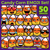 Candy Corn Emoji Clipart Faces / CandyCorn Halloween Emoji