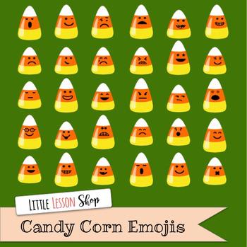 Candy Corn Emojis Digital Clipart Set