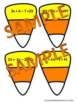Candy Corn Equation Matching Activity