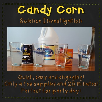Candy Corn Experiment {A Halloween Science Lab Investigation}