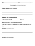 Candy Corn Experiment Scientific Method Form & Answer Key