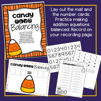 Candy Corn Fact Balancing Math Center!