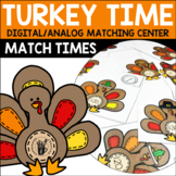 Telling Time Matching Center - Turkey Time