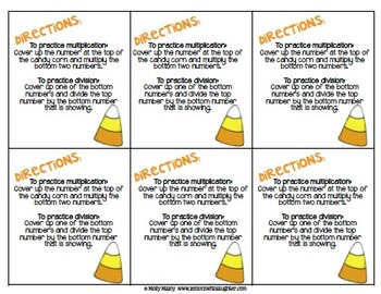Candy Corn Fact Families (Multiplication & Division)