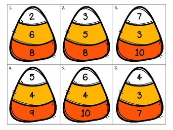 Candy Corn Fact Family Task Cards