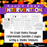 Candy Corn Fluency Passage & Comprehension Activities {7th Grade}