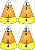 Candy Corn Fraction Jigsaw Cards