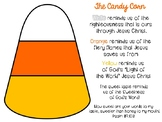 Candy Corn Freebie Christian School Color and Black and White Printable