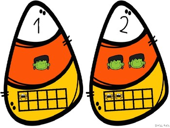 Candy Corn Freebie! {Standard Form, Counting, Ten Frames}