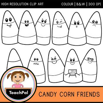 Candy Corn Friends - Halloween Clip Art
