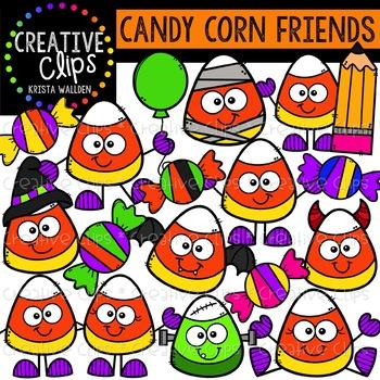 Candy Corn Friends: Halloween Clipart {Creative Clips Clipart}