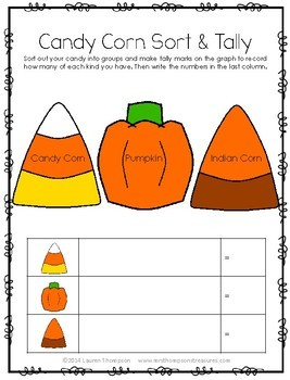 Candy Corn Math Activities {Graphing, Sorting, Patterns & More}