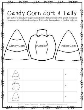 Candy Corn Fun FREEBIE - Sort & Tally