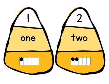 Number/Number Word and One to One Correspondence Match Up