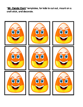 """""""Candy Corn Game!"""" - Craft and Song for Halloween Fun"""