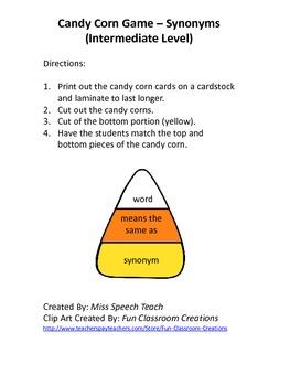 Candy Corn Game - Intermediate