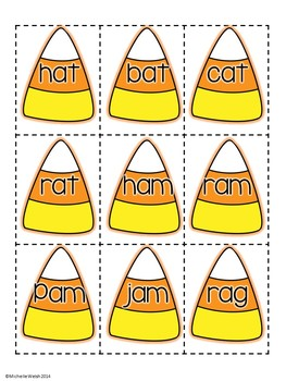 Candy Corn Go Fish: CVC Rhyming Words Practice Game