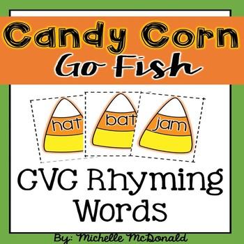 Candy Corn Go Fish: CVC Rhyming Words Practice Game