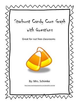 Graphing Nut Free Candy Corn:  Freebie