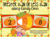 Candy Corn Greater Than & Less Than