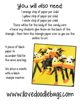 Candy Corn Guy Craftivity - Art Project - Craft Project FREE DOWNLOAD