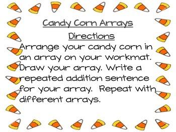 Candy Corn (Halloween) Arrays Math Center