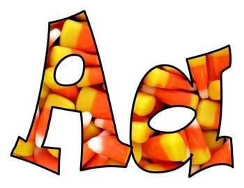 Candy Corn Halloween BB letters