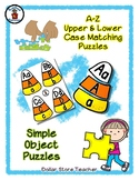 Candy Corn - Halloween Candy - Alphabet / Letter Puzzles -