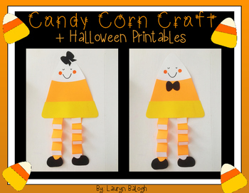 Candy Corn Halloween Craft & Printables